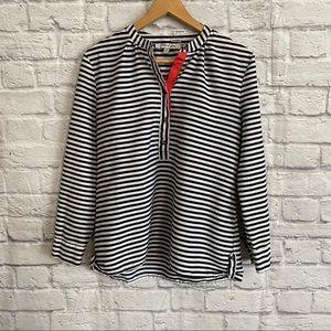 Jennifer & Grace Black White Stripe Blouse